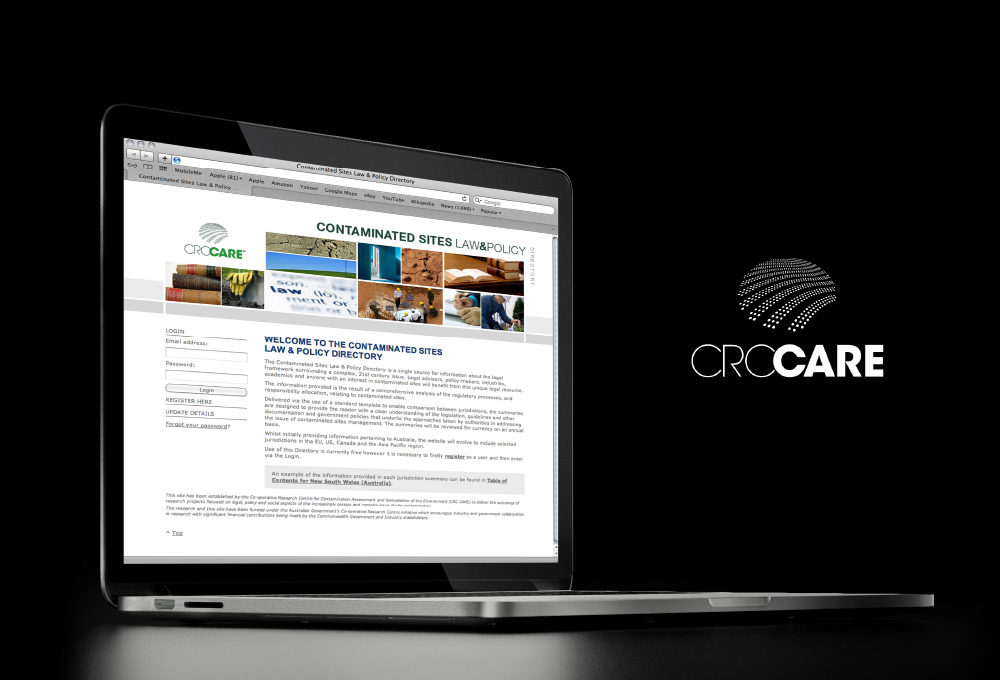 CRCCARE: Contaminated Sites Law & Policy Directory Website – Freelance Graphic Designer Adelaide